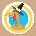 Turkey Pilgrim II Classic Round Sticker