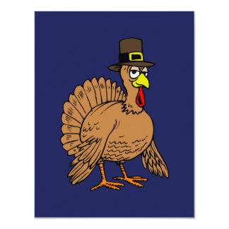 Turkey Pilgrim Thanksgiving Dinner Card