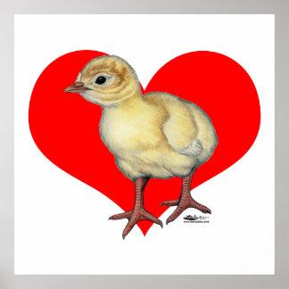 Turkey Poult Heart Poster