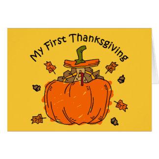 Turkey Pumpkin 1st Thanksgiving Greeting Cards