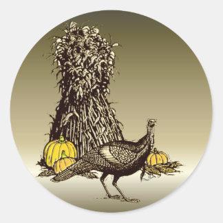 Turkey Pumpkin Classic Round Sticker