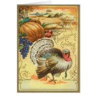 Turkey Pumpkin Corn Grapes Apple Haystack Cards