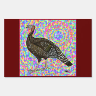 Turkey Rainbow Lawn Sign