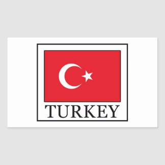 Turkey Rectangular Sticker