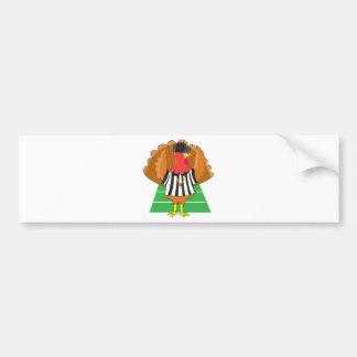 Turkey Referee Car Bumper Sticker
