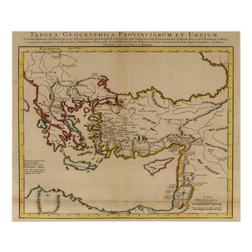 Turkey, Rome, Greece Poster