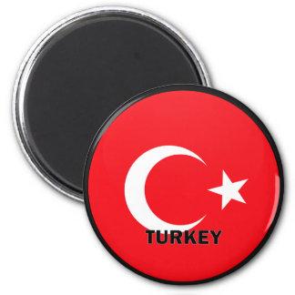 Turkey Roundel quality Flag Magnet