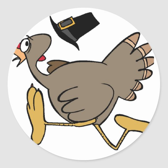 Turkey run classic round sticker