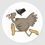 Turkey run classic round sticker