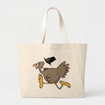 Turkey run large tote bag