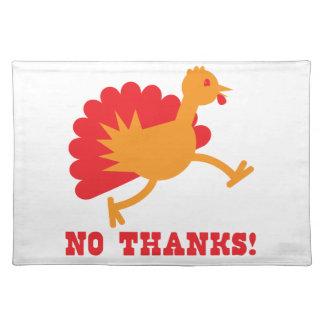 TURKEY running NO THANKS! Placemat