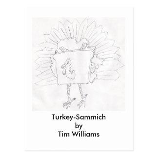 Turkey-Sammich by Tim Williams Postcard