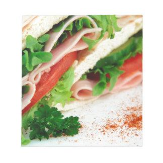 Turkey Sandwich Print - Weird Unique Gift Notepad