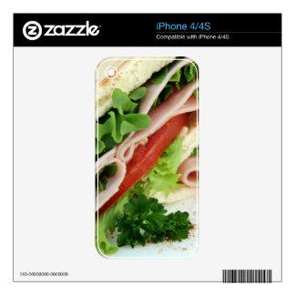 Turkey Sandwich Print - Weird Unique Gift Skin For The iPhone 4S
