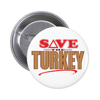 Turkey Save Pinback Button