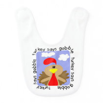 Turkey Says Gobble Bib