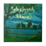 Turkey Scratch Arkansas Night Turkeys Gift Tile