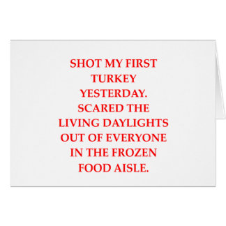turkey shoot card