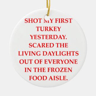 turkey shoot christmas tree ornament