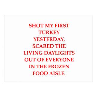 turkey shoot post cards