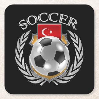 Turkey Soccer 2016 Fan Gear Square Paper Coaster