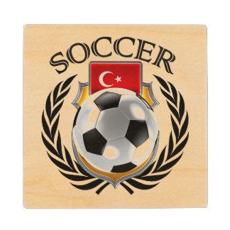 Turkey Soccer 2016 Fan Gear Wood Coaster