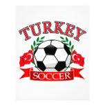 Turkey soccer ball designs customized letterhead