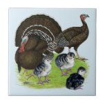 """Turkey Standard Bronze Family Ceramic Tile<br><div class=""""desc"""">Standard bronze are a heritage turkey breed without many of the health problems of fast growing bronze types.  They are beautiful additions to the family poultry yard.</div>"""