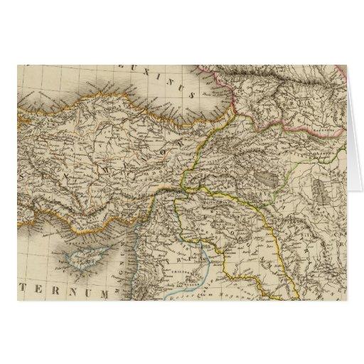Turkey Syria map Card