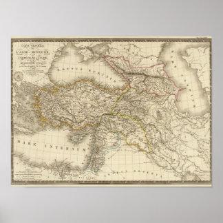 Turkey Syria map Poster