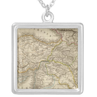 Turkey Syria map Silver Plated Necklace
