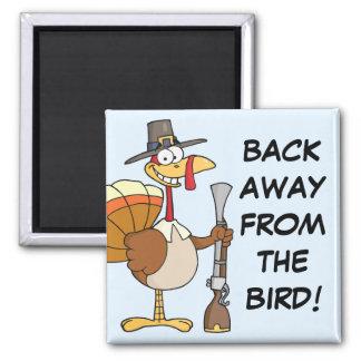 Turkey Taking Thanksgiving Dinner Hostage Magnet