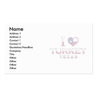Turkey, Texas Business Card Templates