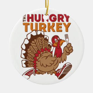 turkey thanksgiving ceramic ornament