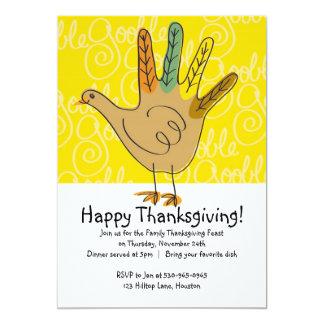 Turkey Thanksgiving Dinner Invitations