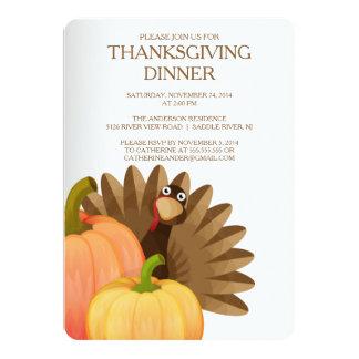 Turkey Thanksgiving Dinner Party Invitation