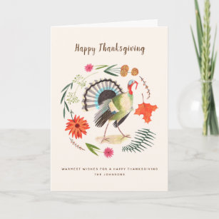 Turkey cards zazzle turkey thanksgiving greetings cards m4hsunfo
