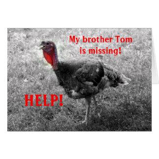 Turkey Thanksgiving Humor Card