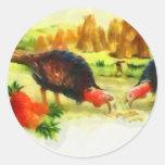 Turkey Thanksgiving Label Sticker