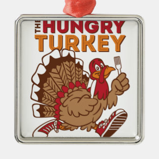 turkey thanksgiving metal ornament