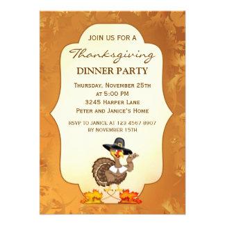 Turkey Thanksgiving Party Invitation