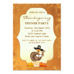 "Turkey Thanksgiving Party Invitation 5"" X 7"" Invitation Card"