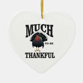 turkey time ceramic ornament