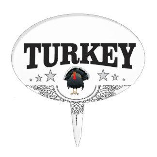 turkey time stars cake topper