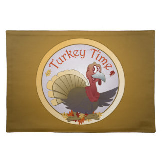 Turkey Time [Thanksgiving] Cloth Placemat