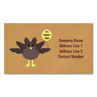 Turkey Time Thanksgiving Custom Business Cards