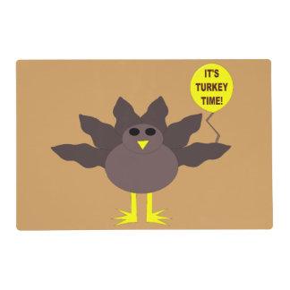 Turkey Time Thanksgiving Custom Placemat