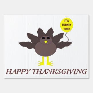Turkey Time Thanksgiving Custom Sign