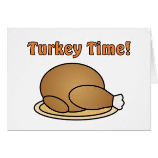 Turkey Time Thanksgiving Dinner Invitation Card