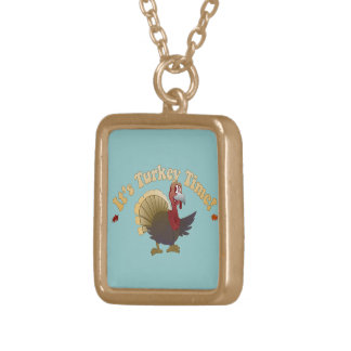 Turkey Time [Thanksgiving] Gold Plated Necklace